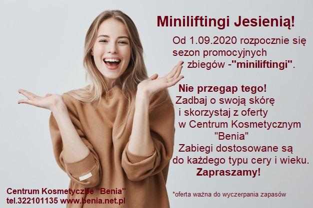 Jesienna promocja na minilifting